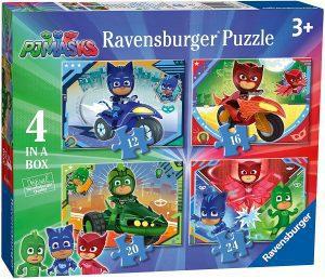 Puzzle de Pj Masks progresivo de Ravensburger - Los mejores puzzles de Pj Masks de dibujos animados