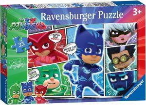 Puzzle de Pj Masks viñetas de 35 piezas de Ravensburger - Los mejores puzzles de Pj Masks de dibujos animados