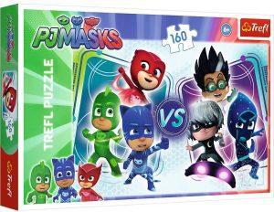 Puzzle de Pj Masks vs Villains de 160 piezas de Trefl - Los mejores puzzles de Pj Masks de dibujos animados