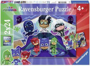 Puzzle de Pj Masks vs Villains de 2x24 piezas de Ravensburger - Los mejores puzzles de Pj Masks de dibujos animados