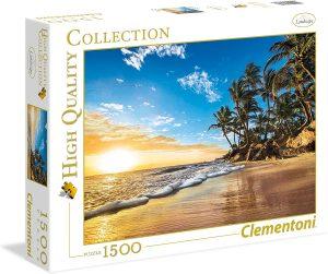Puzzle de Playa Tropical de 1500 piezas de Clementoni - Los mejores puzzles de Hawái - Hawaii - Puzzle de Hawaii
