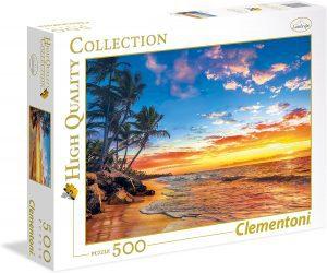 Puzzle de Playa Tropical de 500 piezas de Clementoni - Los mejores puzzles de Hawái - Hawaii - Puzzle de Hawaii