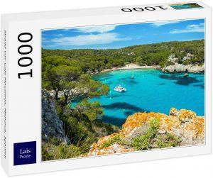 Puzzle de Playa de Cala Macarella de Menorca de 1000 piezas de Lais - Los mejores puzzles de Menorca