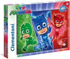 Puzzle de héroes de Pj Masks de 104 piezas de Clementoni - Los mejores puzzles de Pj Masks de dibujos animados