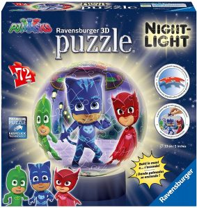 Puzzle de lámpara nocturna de Pj Masks de 72 piezas en 3D de Ravensburger - Los mejores puzzles de Pj Masks de dibujos animados