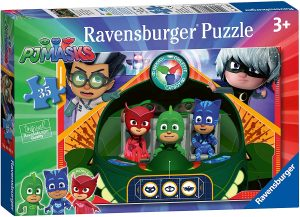 Puzzle de nave de Pj Masks de 35 piezas de Ravensburger - Los mejores puzzles de Pj Masks de dibujos animados