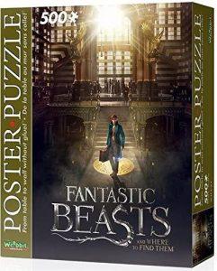 Puzzle de póster de Animales fantásticos de 500 piezas de Wrebbit 3D 2 - Los mejores puzzles de Fantastic Beasts de Harry Potter