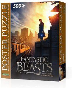 Puzzle de póster de Animales fantásticos de 500 piezas de Wrebbit 3D - Los mejores puzzles de Fantastic Beasts de Harry Potter