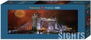 Puzzle de panorama del Puente de Londres de noche de 1000 piezas de Heye - Los mejores puzzles de Tower Bridge - Puzzles del Puente de Londres