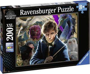 Puzzle de personajes de Newt Scamander de 200 piezas de Ravensburger - Los mejores puzzles de Fantastic Beasts de Harry Potter