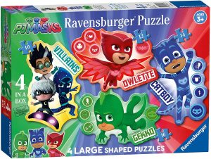 Puzzle de siluetas de personajes de Pj Masks de Ravensburger - Los mejores puzzles de Pj Masks de dibujos animados