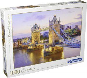 Puzzle del Puente de Londres de 1000 piezas de Clementoni - Los mejores puzzles de Tower Bridge - Puzzles del Puente de Londres