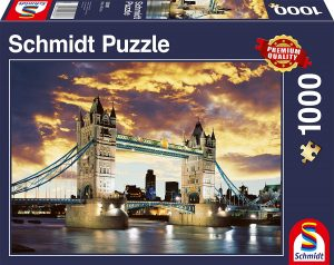 Puzzle del Puente de Londres de noche de 1000 piezas de Schmidt - Los mejores puzzles de Tower Bridge - Puzzles del Puente de Londres