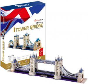 Puzzle del Puente de Londres en 3D de 120 piezas de CubicFun - Los mejores puzzles de Tower Bridge - Puzzles del Puente de Londres