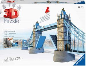 Puzzle del Puente de Londres en 3D de 216 piezas de Ravensburger- Los mejores puzzles de Tower Bridge - Puzzles del Puente de Londres