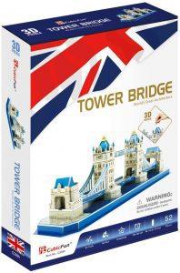 Puzzle del Puente de Londres en 3D de 52 piezas de CubicFun - Los mejores puzzles de Tower Bridge - Puzzles del Puente de Londres