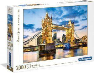 Puzzle del Puente de Londres iluminado de 2000 piezas de Clementoni - Los mejores puzzles de Tower Bridge - Puzzles del Puente de Londres