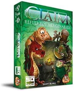 Juego de mesa de Claim Mercenarios - Juegos de mesa de 2 jugadores - Los mejores juegos de mesa de 1 vs 1