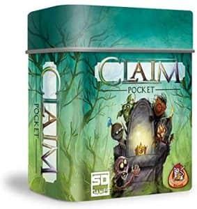 Juego de mesa de Claim Pocket - Juegos de mesa de 2 jugadores - Los mejores juegos de mesa de 1 vs 1