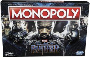 Monopoly de Black Panther en inglés de Marvel - Juegos de mesa de Marvel - Los mejores juegos de mesa de los Vengadores de Marvel