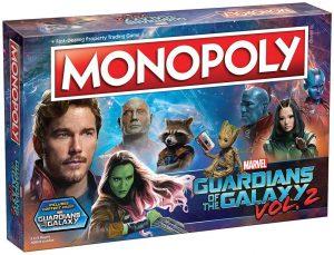 Monopoly de Guardianes de la Galaxia en inglés de Marvel - Juegos de mesa de Marvel - Los mejores juegos de mesa de los Vengadores de Marvel