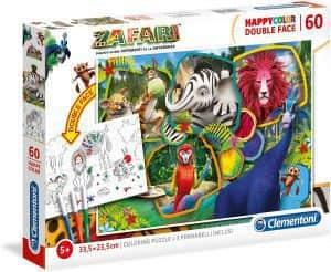 Puzzle de Zafari para colorear de 60 piezas de Clementoni - Los mejores puzzles de Zafari