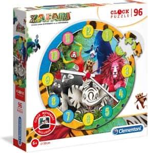 Puzzle de Zafari reloj de 96 piezas de Clementoni - Los mejores puzzles de Zafari