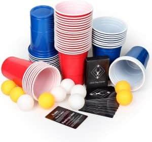 Set de Beer Pong - Juegos de mesa para beber - Los mejores juegos de mesa de adultos y risas para beber