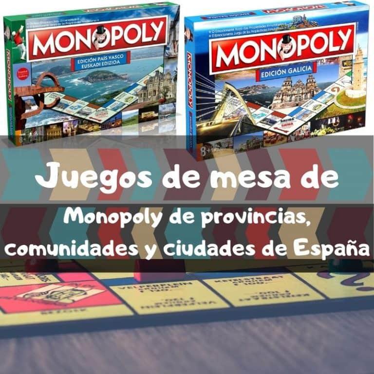 Los mejores juegos de mesa de Monopoly de provincias, comunidades y ciudades