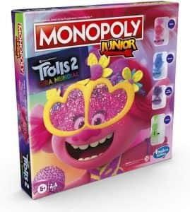 Monopoly Junior de Trolls - Juegos de mesa de Trolls World Tour - Los mejores juegos de mesa de Trolls