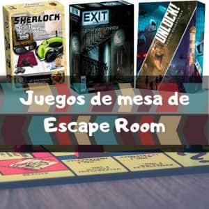 Juegos de mesa de Escape Room - Los mejores juegos de mesa de Halloween - Juegos de miedo
