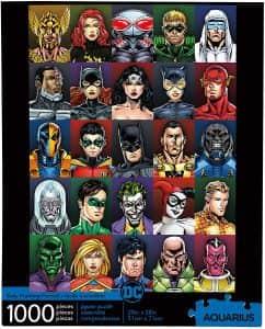Puzzle de personajes de DC de 1000 piezas - Los mejores puzzles de DC