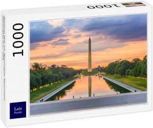 Puzzle de anochecer en Washington DC de 1000 piezas de Lais - Los mejores puzzles de Washington