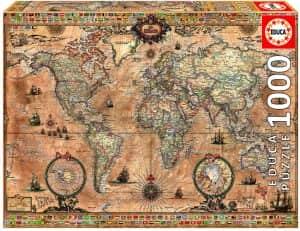Puzzle de mapamundi de Educa de 1000 piezas