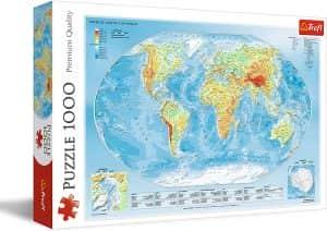 Puzzle del Mapamundi de 1000 piezas de Trefl