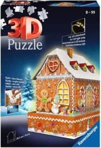 Puzzle de Ginger Bread House de Navidad de 216 piezas en 3D - Los mejores puzzles de Navidad