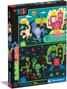 Puzzle de Monsters de Glowing Lights de 104 piezas - Los mejores puzzles de Glowing Lights de Clementoni