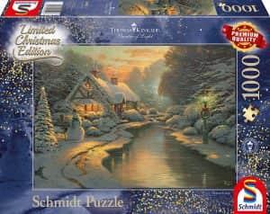 Puzzle de Navidad de Thomas Kinkade de 1000 piezas - Los mejores puzzles de Navidad