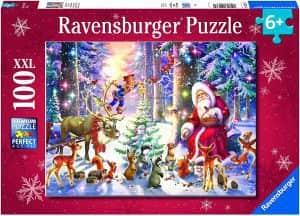 Puzzle de Navidad en el bosque de 100 piezas - Los mejores puzzles de Navidad