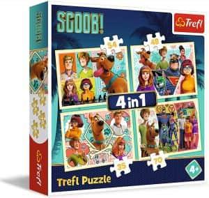 Puzzle de Scooby Doo 4 en 1 - Los mejores puzzles de Scooby Doo