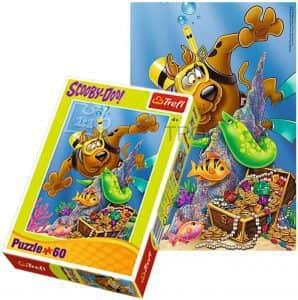 Puzzle de Scooby Doo buceador de 60 piezas - Los mejores puzzles de Scooby Doo