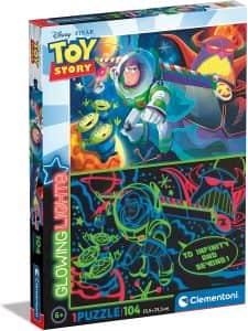Puzzle de Toy Story de Frozen de Glowing Lights de 104 piezas - Los mejores puzzles de Glowing Lights de Clementoni