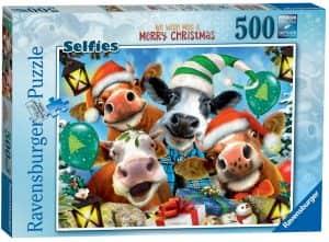 Puzzle de animales de Navidad de 500 piezas - Los mejores puzzles de Navidad