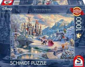 Puzzle de la Bella y la Bestia de Navidad de Disney de 1000 piezas - Los mejores puzzles de Navidad