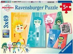 Puzzle de personajes de MeteroHeroes de 3x49 piezas de Ravensburger - Los mejores puzzles de MeteoHeroes