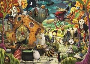 Puzzle del pueblo de Halloween de 1000 piezas - Los mejores puzzles de Halloween