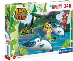 Puzzle Maxi De Leo Y Tig De 24 Piezas De Clementoni