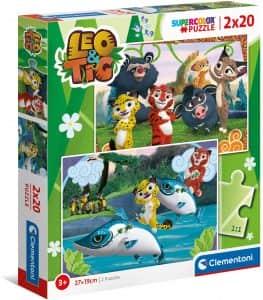 Puzzle De Leo Y Tig De 2×20 Piezas De Clementoni
