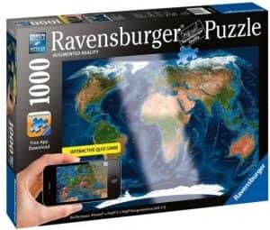 Puzzle De Mapa Del Mundo De Augmented Reality De 1000 Piezas De Ravensburger. Los Mejores Puzzles De Realidad Aumentada