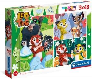 Puzzle De Personajes De Leo Y Tig De 3×48 Piezas De Clementoni